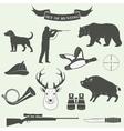 Set of vintage labels on hunting vector image vector image