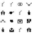 sexual icon set vector image vector image