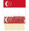 Singapore grunge flag vector image vector image