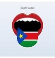 South Sudan language Abstract human tongue vector image
