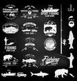 sport fishing club vector image vector image