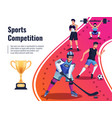 sports competition background vector image vector image
