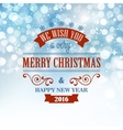 Typographic Retro Christmas Design vector image vector image
