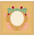 vintage design with ladybugs and flowers vector image