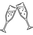 wine toss icon doddle hand drawn or black outline vector image