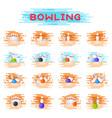 bowling kegling ball and skittles ninepins vector image