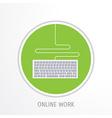online work concept vector image