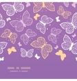 Night butterflies horizontal seamless pattern vector image