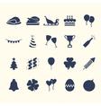 Party-Celebration Web Icon Set Design vector image