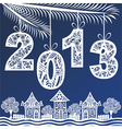 2013 Christmas New Year Background vector image