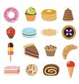 desserts collection vector image
