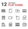 12 folder icons vector image vector image