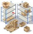 3d isometric storage of post service vector image