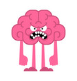 angry brain bad thoughts evil brains vector image vector image
