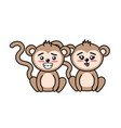 beautiful cute animals with expression face vector image