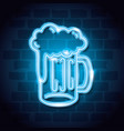 beer drink neon label vector image