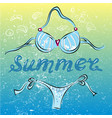 bikini swimming suit on summer beach vector image vector image
