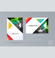 brochure design triangular template colourful vector image