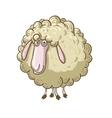 Cartoon fluffy sheep vector image