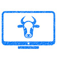 cattle monitor icon grunge watermark vector image vector image