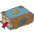 Closed Book with Bookmark and Blue Cover vector image