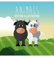 cow and bull design graphic animal vector image