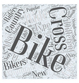Cross Country Mountain Biking Word Cloud Concept vector image vector image