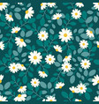 cute white daisy flower flat style seamless vector image vector image
