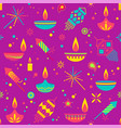 diwali colorful seamless pattern with main vector image vector image