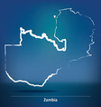 Doodle Map of Zambia vector image vector image