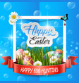 easter eggs box with frame vector image vector image
