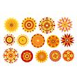 Ethnic solar symbol set vector image vector image