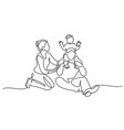 family concept father mother and kids sitting vector image