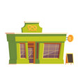 fast food restaurant or bakery building cartoon vector image