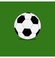 Football soccer ball icon with shadow green grass vector image vector image