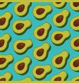 fresh avocado pattern background vector image