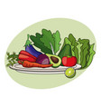fruit vegetables diet nutrition vector image vector image