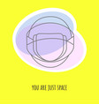 gift card with space sign and helmet vector image vector image