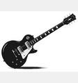half tone electric guitar vector image vector image
