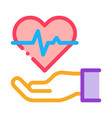 Hand hold heart icon outline