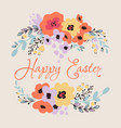 Happy easter floral card