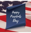 Happy Presidents Day background on blue curved vector image