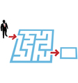 help a business person find a way through a maze p vector image vector image