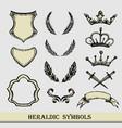 heraldic symbols hand drawing vector image vector image