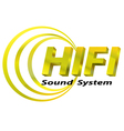 Hifi sound system logo vector image vector image