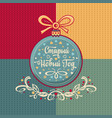 holiday decorations - colored ball greeting card