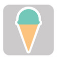 ice cream cone icon isolated on background vector image