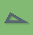 Icon of triangle ruler Flat style vector image