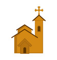 isolated catholic church image vector image vector image