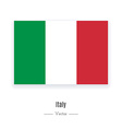 Italy Flag Icon vector image vector image
